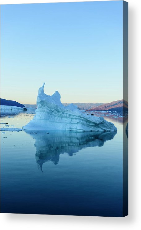 Scenics Acrylic Print featuring the photograph Iceberg In The Scoresby Sund by Berthold Trenkel