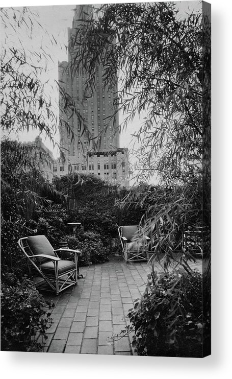 Home Acrylic Print featuring the photograph Jack Little's Garden In New York City by A E Boutrelle