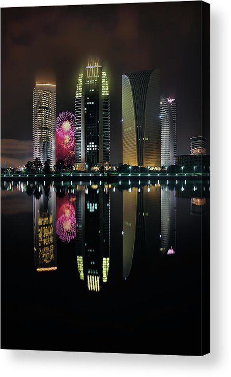 Tranquility Acrylic Print featuring the photograph Malaysia 56th Independence Day by Photography By Azam Alwi