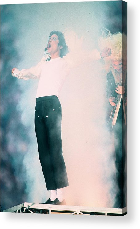 Retro Images Archive Acrylic Print featuring the photograph Micheal Jackson Performing On Stage by Retro Images Archive