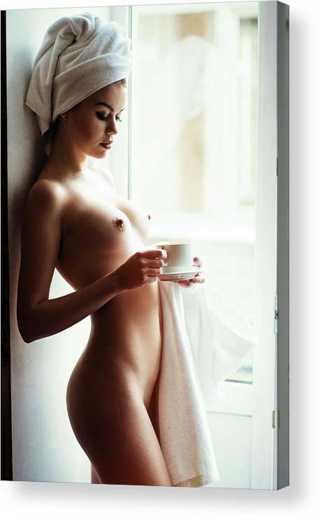 Fine Art Nude Acrylic Print featuring the photograph Morning Tea by Gene Oryx