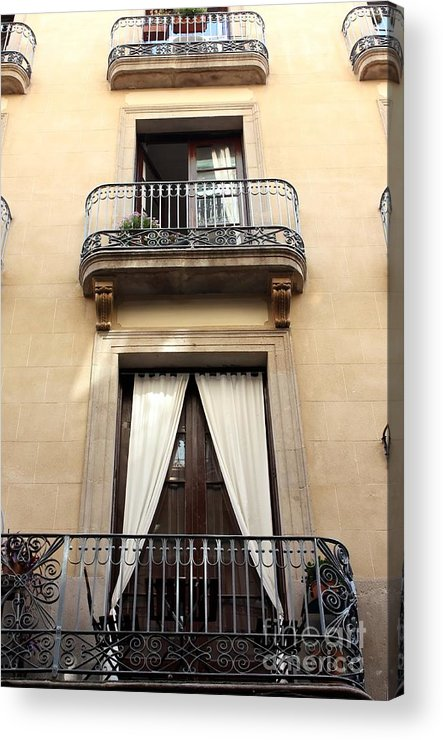Barcelona Acrylic Print featuring the photograph My Apartment by Sophie Vigneault