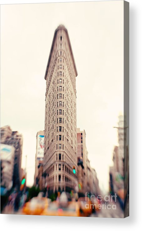 New York City Photo Acrylic Print featuring the photograph New York City Flatiron Building by Kim Fearheiley