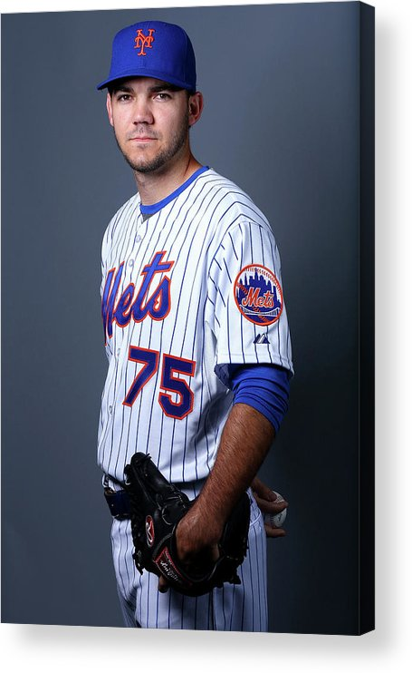 American League Baseball Acrylic Print featuring the photograph New York Mets Photo Day by Elsa