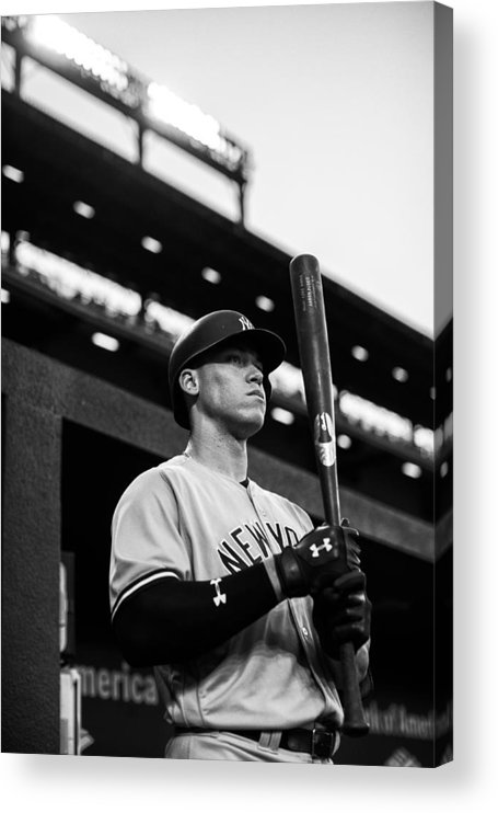 People Acrylic Print featuring the photograph New York Yankees v Baltimore Orioles by Rob Tringali/Sportschrome