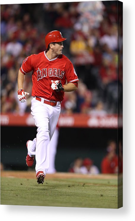 American League Baseball Acrylic Print featuring the photograph Oakland Athletics v. Los Angeles Angels by Paul Spinelli