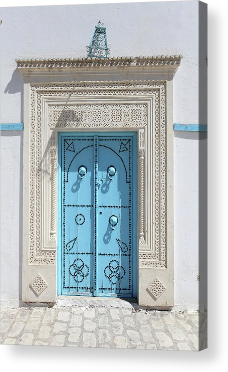 Molding A Shape Acrylic Print featuring the photograph Old Blue Door by Iv-serg