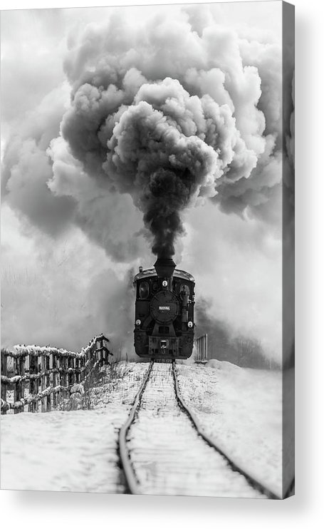 Steam Acrylic Print featuring the photograph Old Train by Sveduneac Dorin Lucian