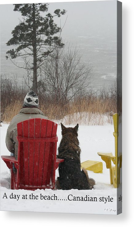 Funny Photograph Acrylic Print featuring the photograph Only In Canada by Sue Long