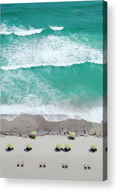 Vacations Acrylic Print featuring the photograph Overhead Wide Angle Of The Beach by Bauhaus1000