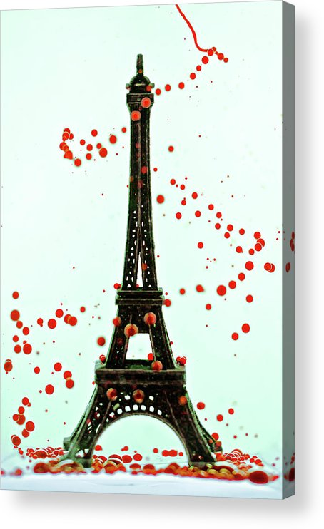 Replica Eiffel Tower Acrylic Print featuring the photograph Paris by Dina Belenko Photography