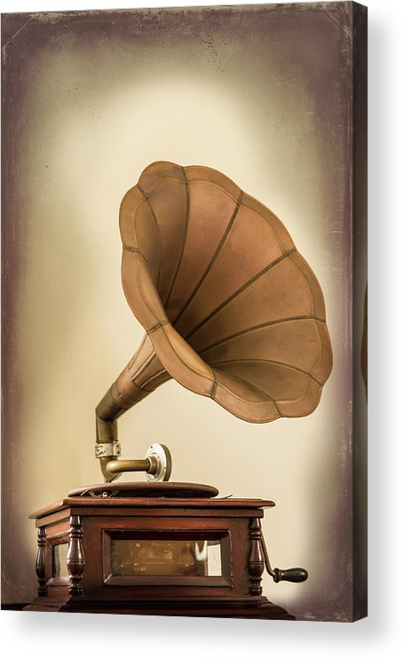 Music Acrylic Print featuring the photograph Phonograph Record Player by Gary S Chapman