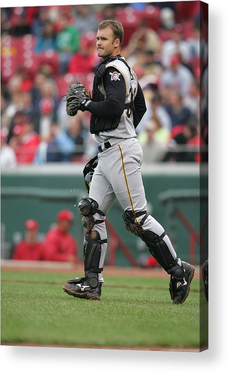 Great American Ball Park Acrylic Print featuring the photograph Pittsburgh Pirates v Cincinnati Reds by Andy Lyons