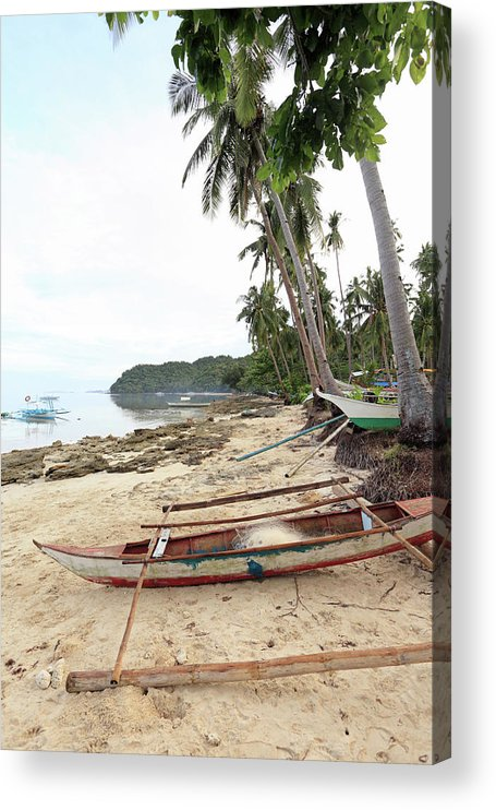 Water's Edge Acrylic Print featuring the photograph Ready To Fishing by Vuk8691