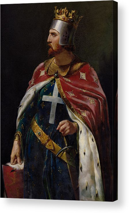 Richard The Lionheart Acrylic Print featuring the painting Richard I The Lionheart by Merry Joseph Blondel