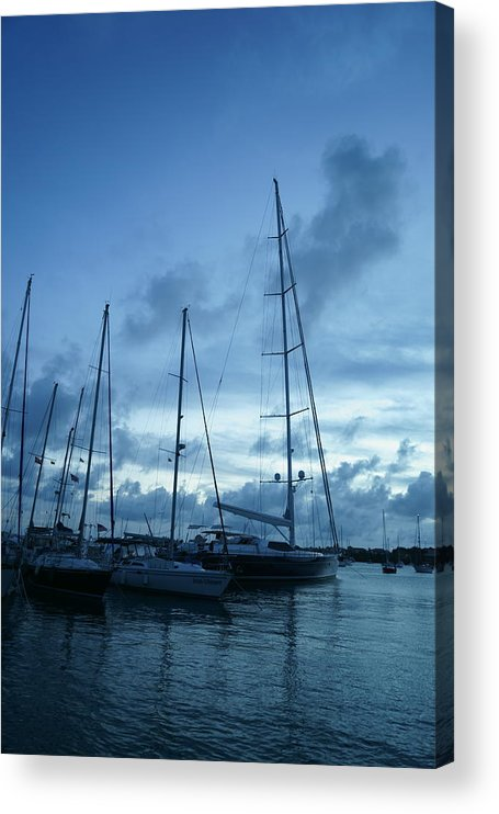 Sail Acrylic Print featuring the photograph Sailboats in Blue by Jean Macaluso