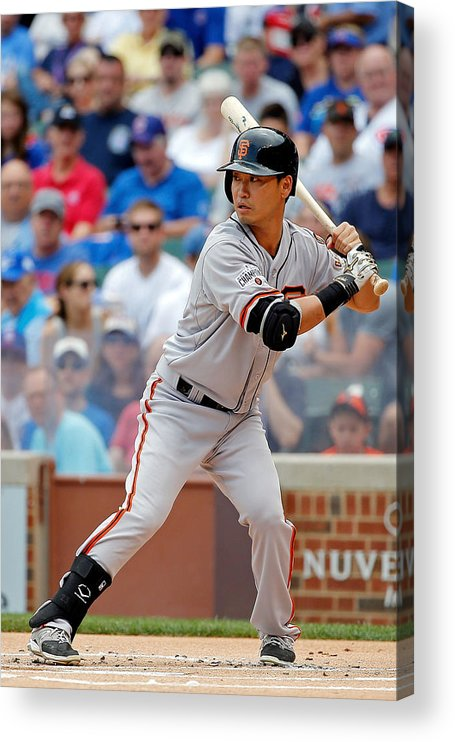 People Acrylic Print featuring the photograph San Francisco Giants V Chicago Cubs by Jon Durr