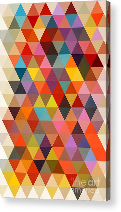 Contemporary Acrylic Print featuring the painting Shapes by Mark Ashkenazi