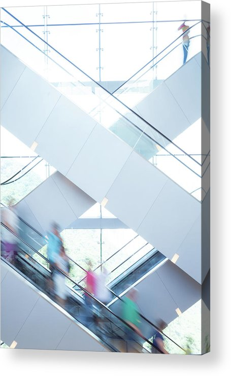 Buy Acrylic Print featuring the photograph Shopers In Motion by Uschools