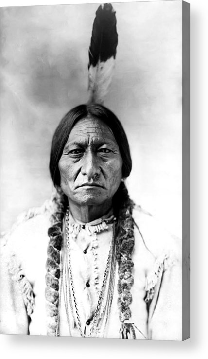 Sitting Bull Acrylic Print featuring the photograph Sitting Bull by Bill Cannon