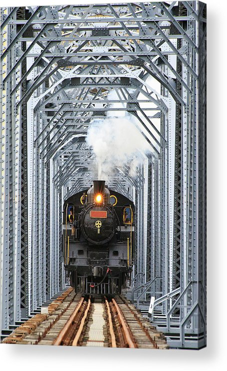 Air Pollution Acrylic Print featuring the photograph Steam Train by Peter Hong