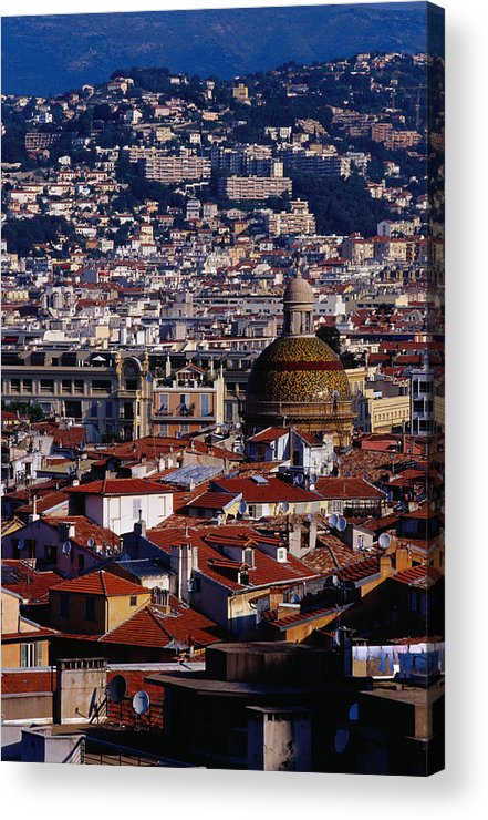 French Riviera Acrylic Print featuring the photograph The City From Parc Du Chateau Castle by Richard I'anson