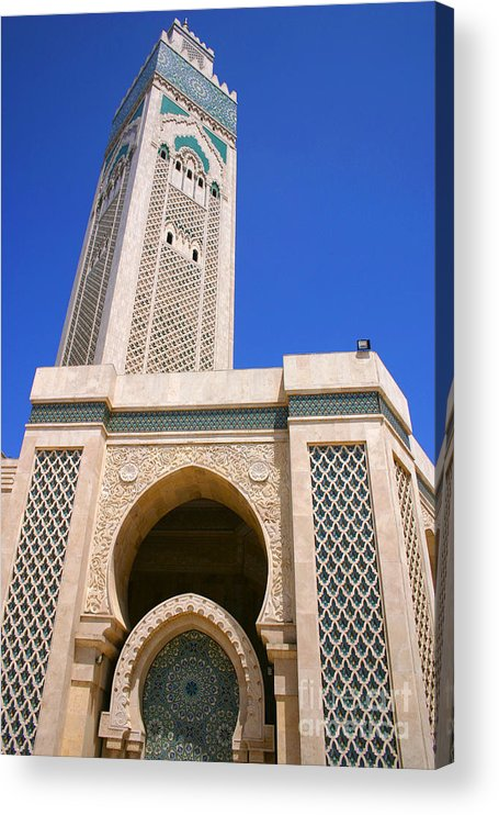 Hassan Ii Mosque Acrylic Print featuring the photograph The Hassan II Mosque Grand Mosque with the Worlds Tallest 210m Minaret Sour Jdid Casablanca Morocco by PIXELS XPOSED Ralph A Ledergerber Photography