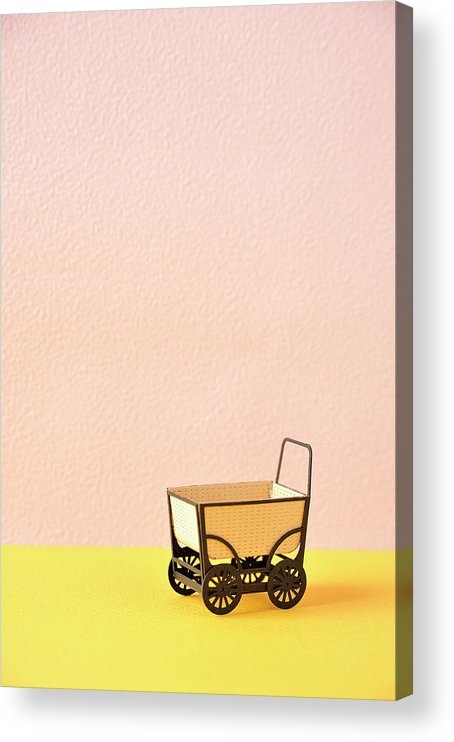 Baby Carriage Acrylic Print featuring the photograph The Model Of The Baby Carriage Made Of by Yagi Studio