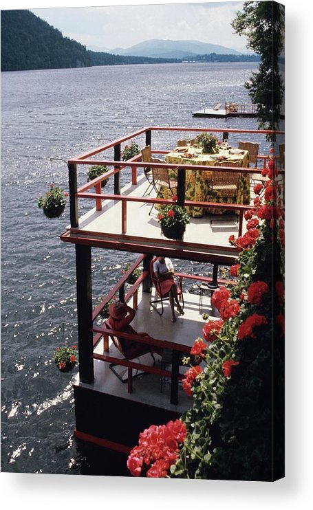 Home Acrylic Print featuring the photograph The Wyker's Deck by Ernst Beadle