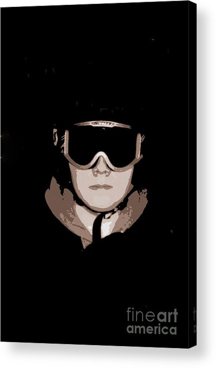 Digital Acrylic Print featuring the photograph They Call Him The by Nancy Dole McGuigan