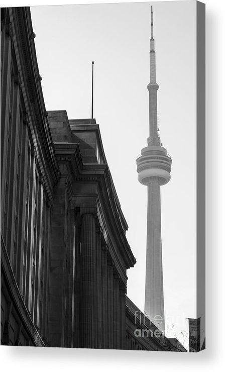 Toronto Acrylic Print featuring the photograph Toronto CN Tower by Matt Trimble