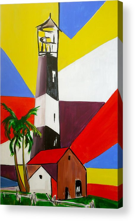 Tybee Island Acrylic Print featuring the painting Tybee Lighthouse II by Pete Maier