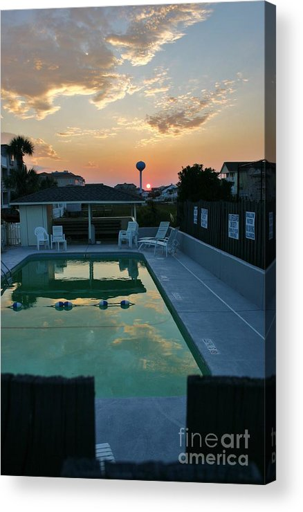 Clouds Acrylic Print featuring the photograph Warning Signs by Beebe Barksdale-Bruner