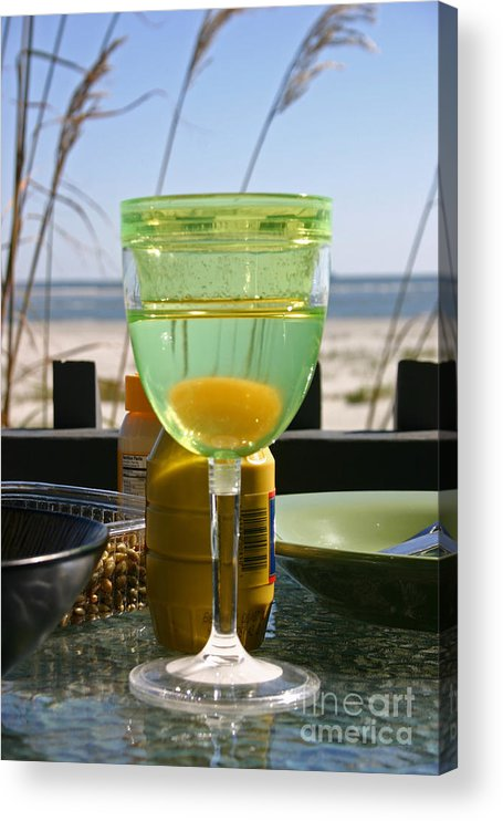 Beach Acrylic Print featuring the photograph Lunch on the Porch by Beebe Barksdale-Bruner