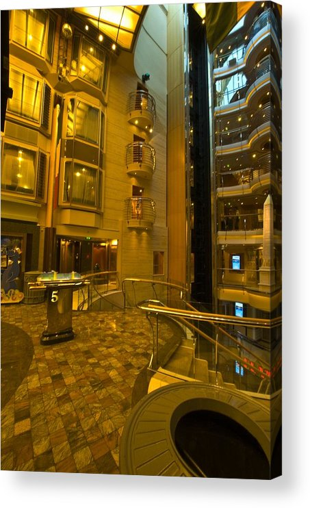 Liberty Of The Seas Acrylic Print featuring the photograph Big Ship Cityscape by Richard Henne