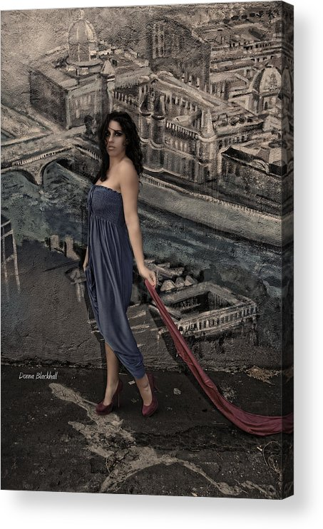 Woman Acrylic Print featuring the photograph Concrete Velvet 1 by Donna Blackhall