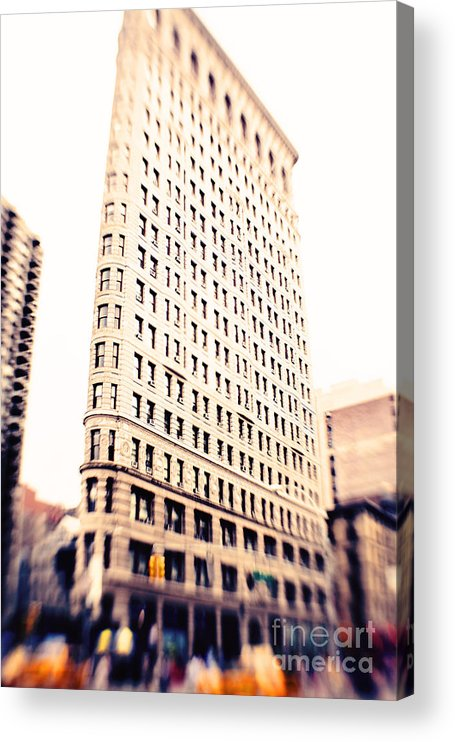 Nyc Acrylic Print featuring the photograph Flatiron Building NYC by Kim Fearheiley