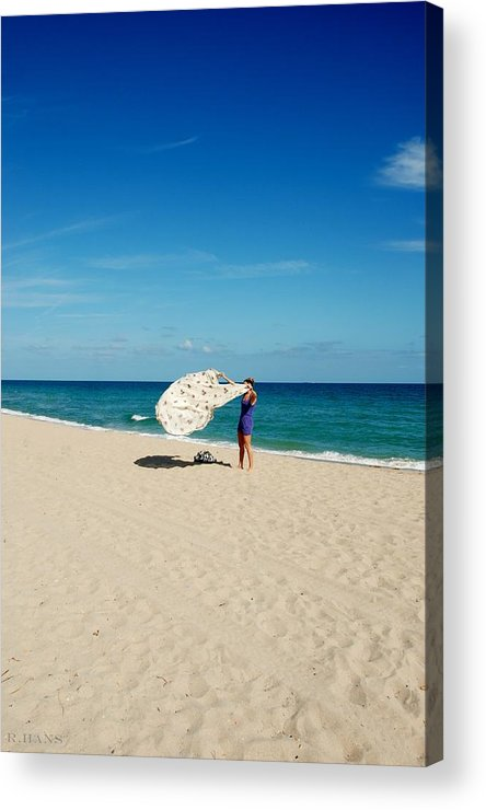 Women Acrylic Print featuring the photograph Freedom From Sand by Rob Hans