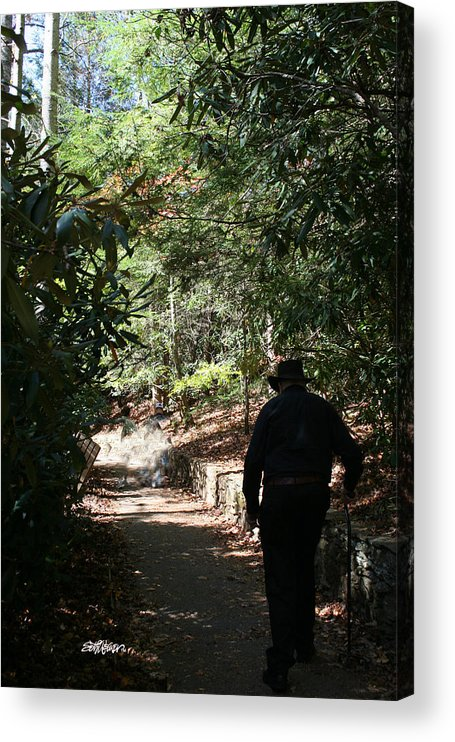 Stroll In The Shadows Acrylic Print featuring the photograph Stroll in the Shadows by Seth Weaver