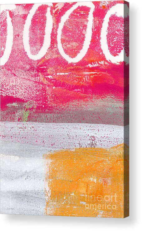 Abstract Acrylic Print featuring the painting Sweet Summer Day by Linda Woods