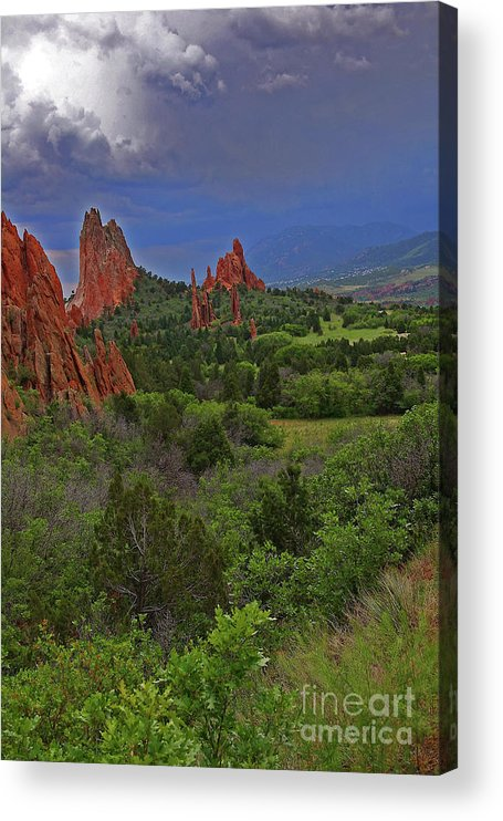 Colorado Acrylic Print featuring the photograph Garden Of The Gods by Rich Walter