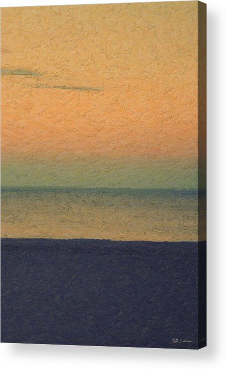 �not Quite Rothko� Collection By Serge Averbukh Acrylic Print featuring the photograph Not quite Rothko - Breezy Twilight by Serge Averbukh