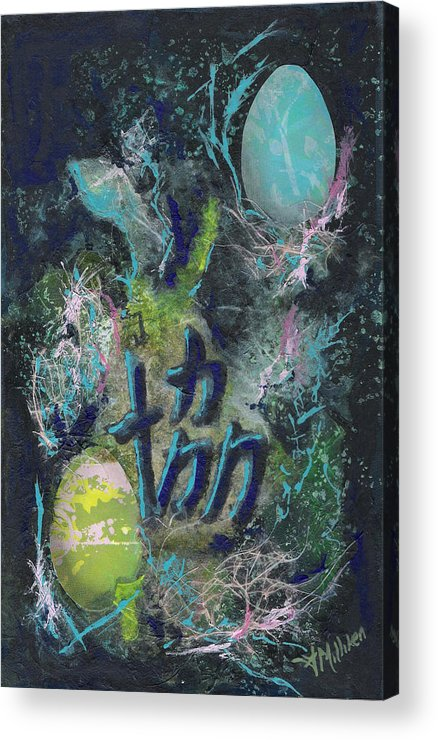 Mixed Media Acrylic Print featuring the painting Unity of the Egg by Tara Milliken