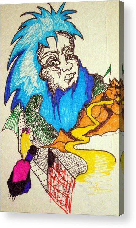 Bluebeard Acrylic Print featuring the drawing Bluebeard by Tammera Malicki-Wong