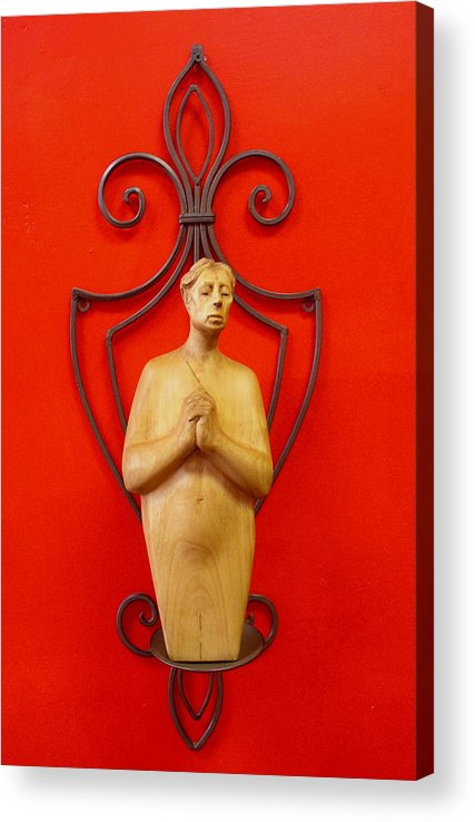 Figure Acrylic Print featuring the sculpture Untitled 2 by Victor Amor