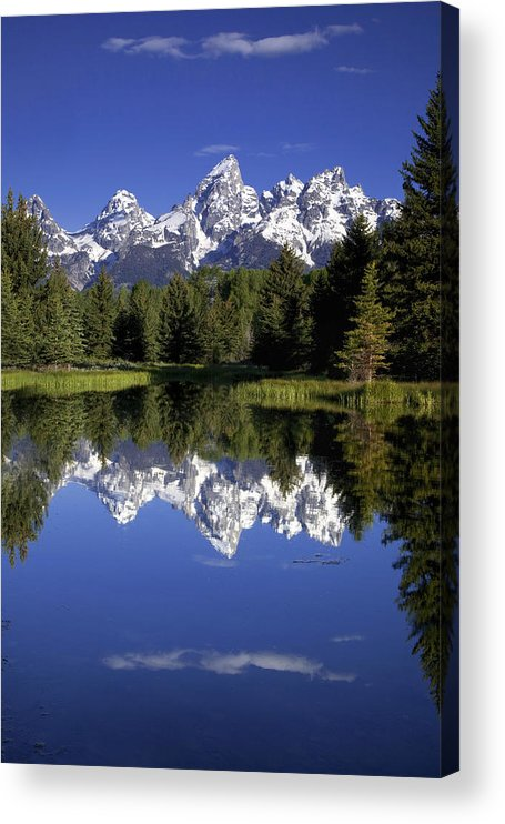 Mountain Acrylic Print featuring the photograph Teton Reflections by Andrew Soundarajan