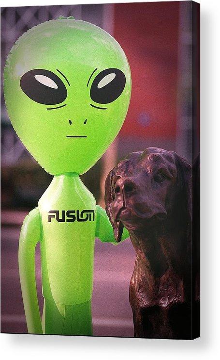Alien Acrylic Print featuring the photograph Alien's Best Friend by Richard Henne