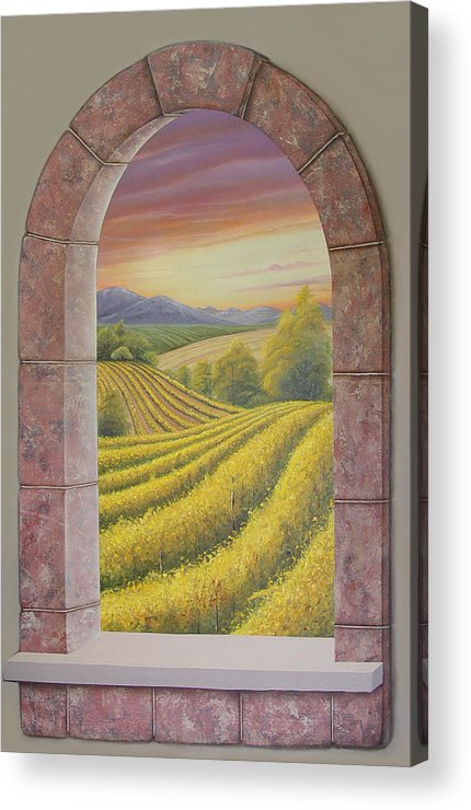 Realistic Acrylic Print featuring the painting Arco Vinal by Angel Ortiz
