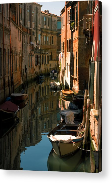 Venice Acrylic Print featuring the photograph Back Canal in Venice by Michael Henderson