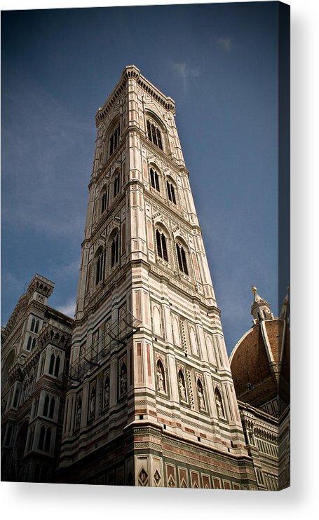 Italy Acrylic Print featuring the photograph Basilica di Santa Maria del Fiore Tower by Carl Jackson